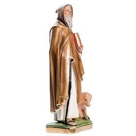 Statua Sant'Antonio Abate 40 cm gesso madreperlato s3