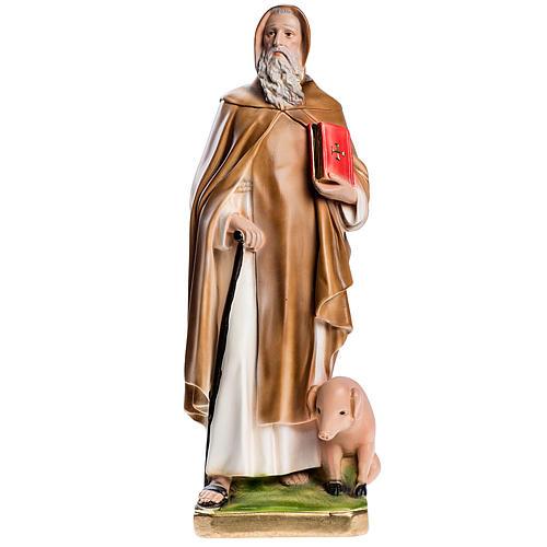 Statua Sant'Antonio Abate 40 cm gesso madreperlato 1