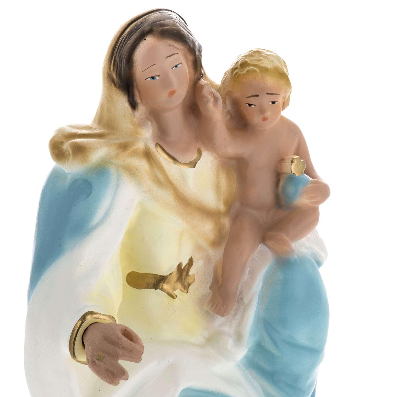 Statua Madonna della Neve gesso 30 cm 4