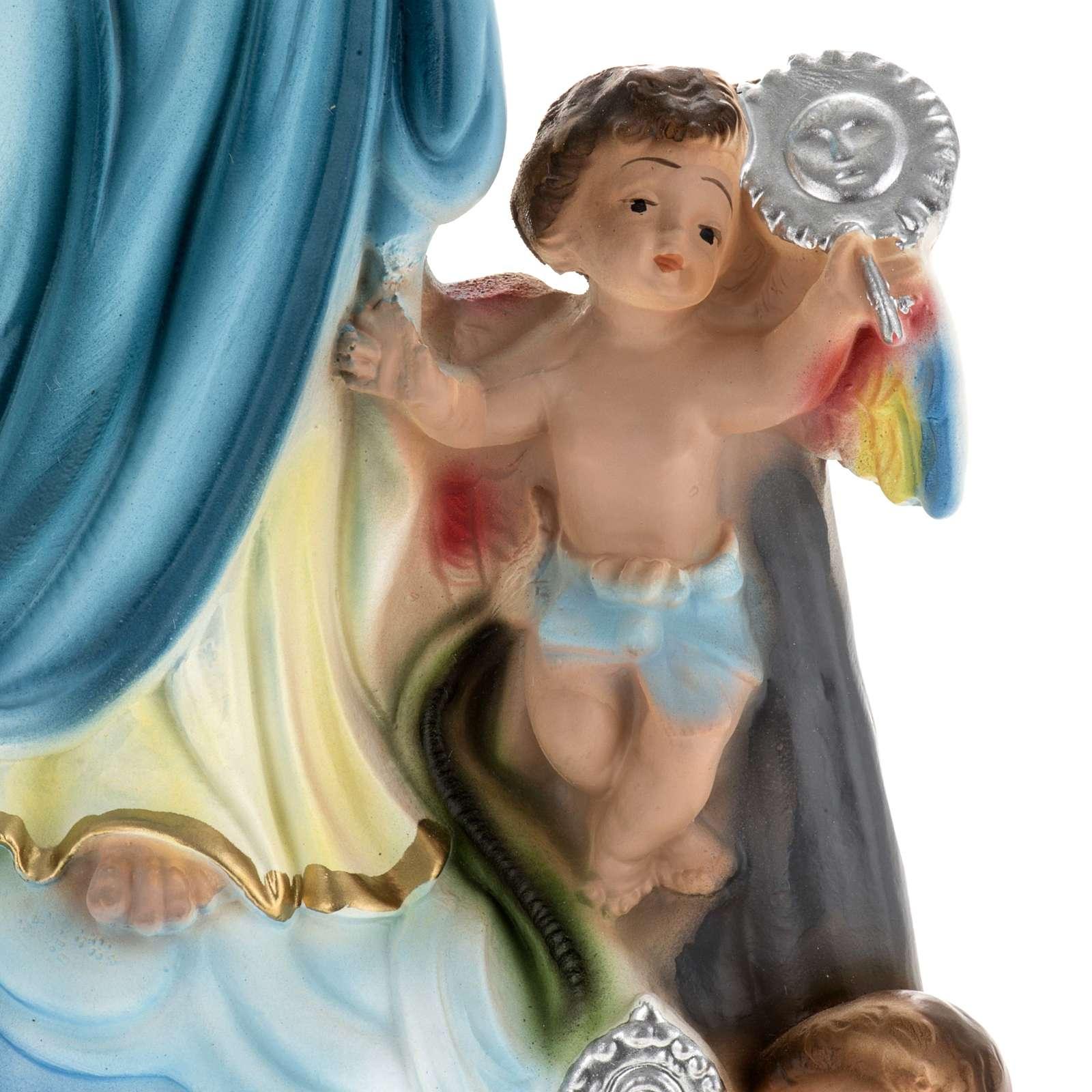 Estatua Virgen de los ángeles 30 cm. yeso 4