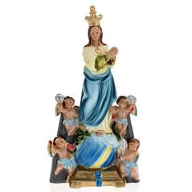 Estatua Virgen de los ángeles 30 cm. yeso s1