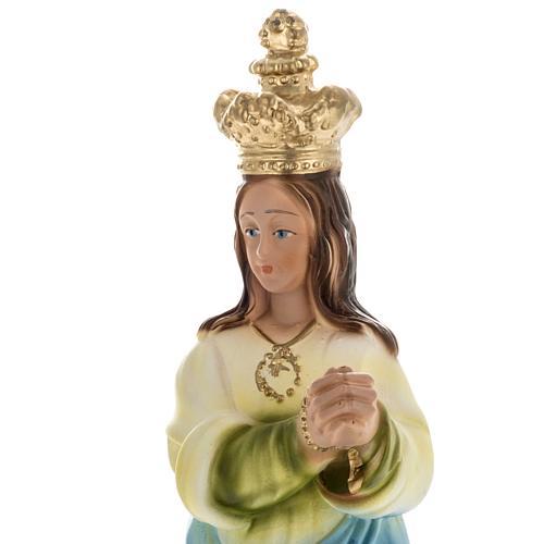 Estatua Virgen de los ángeles 30 cm. yeso 2