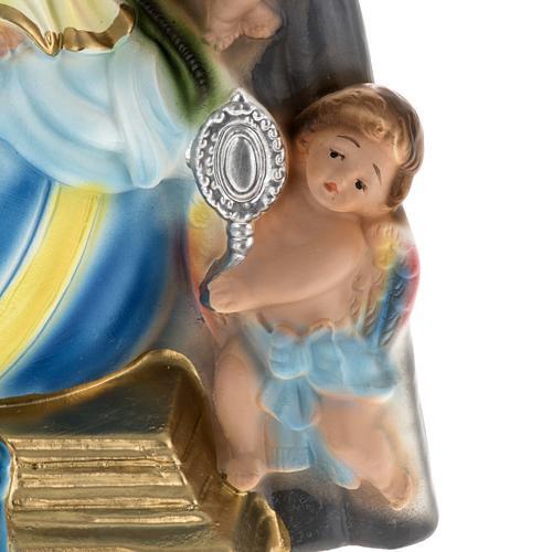 Estatua Virgen de los ángeles 30 cm. yeso 6