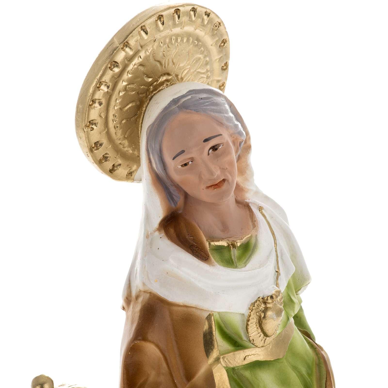 Statua Sant'Anna da Caserta 30 cm gesso 4