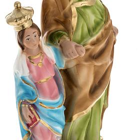 Statua Sant'Anna da Caserta 30 cm gesso s3