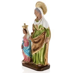 Statua Sant'Anna da Caserta 30 cm gesso s4