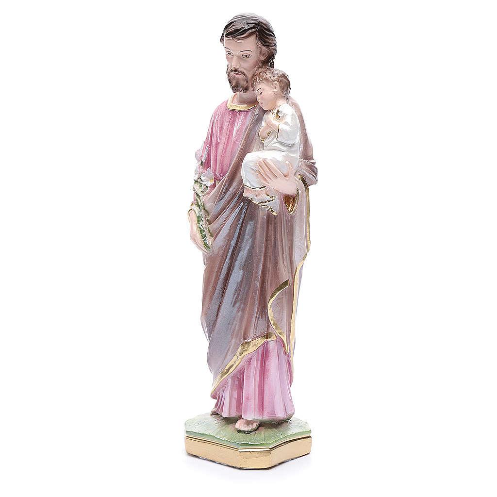 Saint Joseph et enfant plâtre 30 cm 4