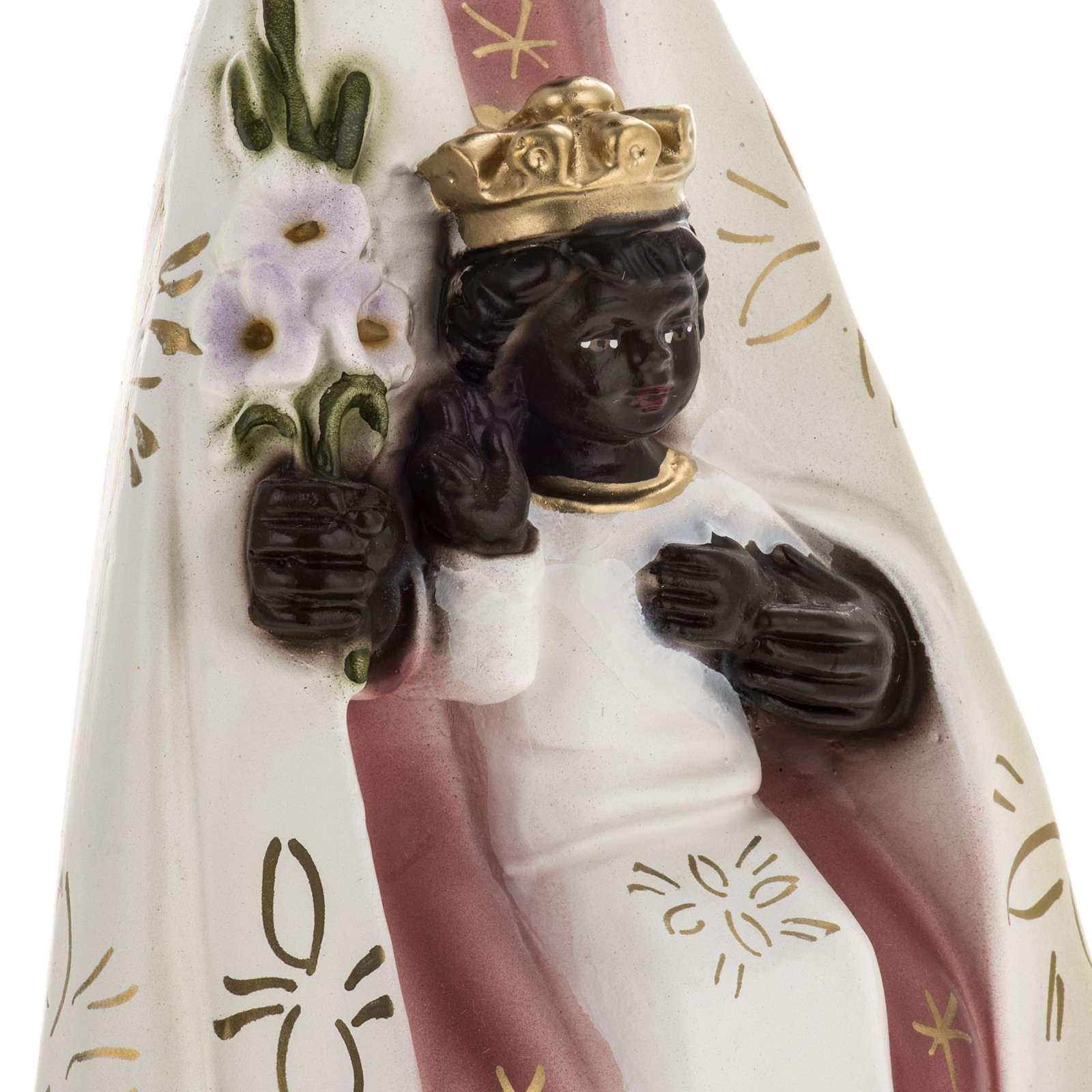 Statua Madonna del Tindari gesso 30 cm 4