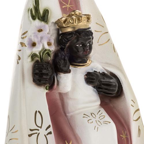 Statua Madonna del Tindari gesso 30 cm 3