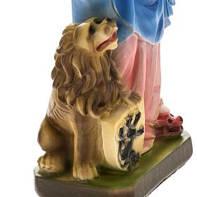 Our Lady of Rosary with lion, statue in plaster, 30 cm s3