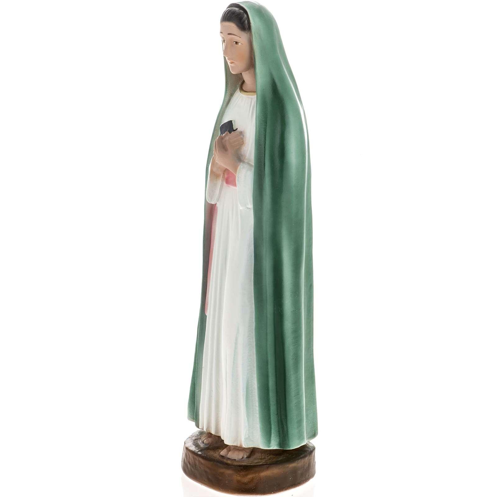 Statue Vierge de la Révélation plâtre 30 cm 4