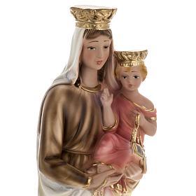 Statua Madonna del Carmelo 40 cm gesso s2