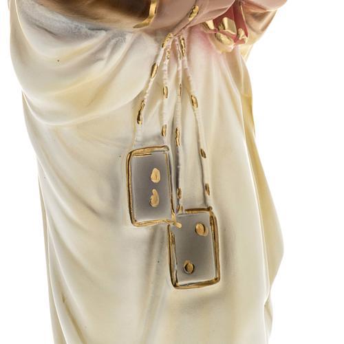 Statua Madonna del Carmelo 40 cm gesso 3