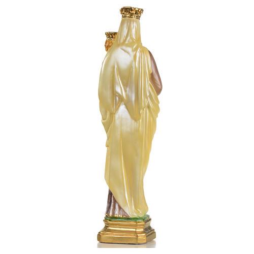 Statua Madonna del Carmelo 40 cm gesso 9