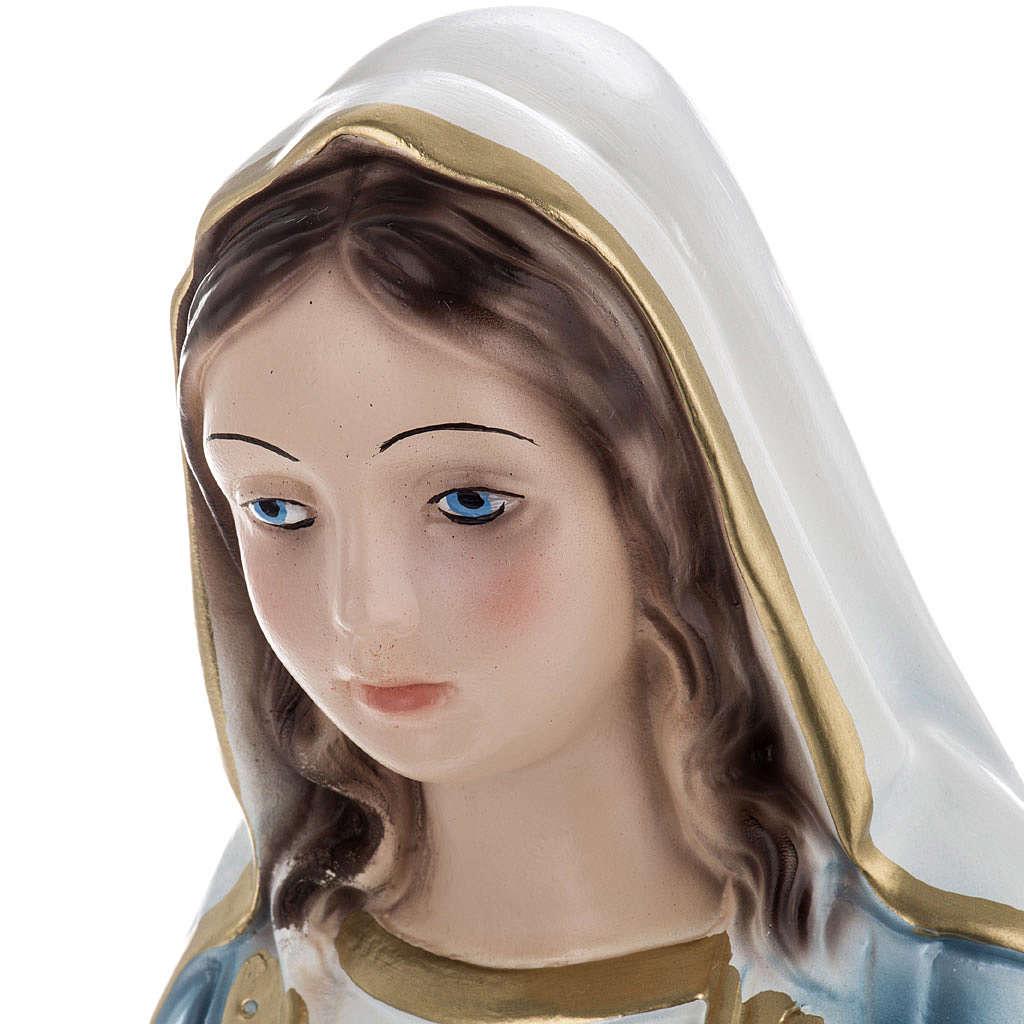 Statua Madonna Miracolosa 40 cm gesso madreperlato 4