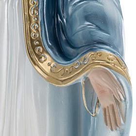 Statua Madonna Miracolosa 40 cm gesso madreperlato s4