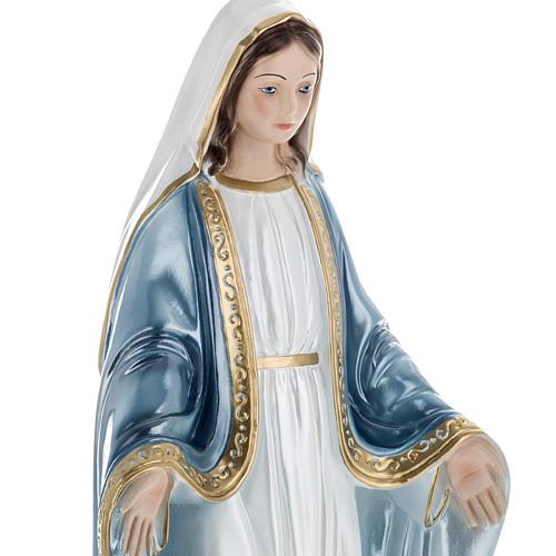 Statua Madonna Miracolosa 40 cm gesso madreperlato 2