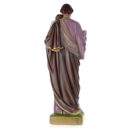 Statua San Giuseppe con bambino 50 cm gesso madreperlato 5