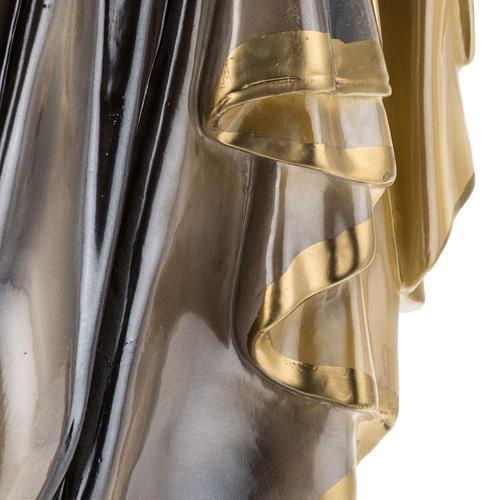 Statua San Giuseppe con bambino 60 cm gesso madreperlato 3