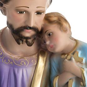 Statua San Giuseppe con bambino 50 cm gesso s2