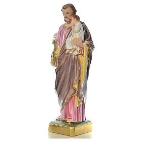 Statua San Giuseppe con bambino 50 cm gesso s13