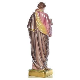 Statua San Giuseppe con bambino 50 cm gesso s15