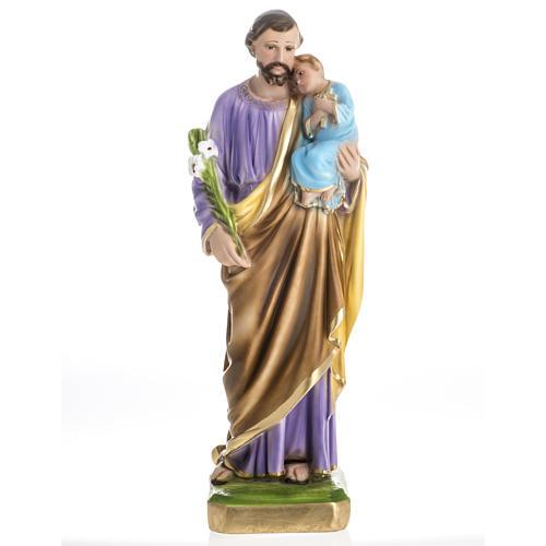 Statua San Giuseppe con bambino 50 cm gesso 1