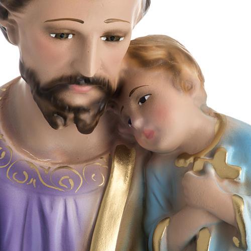 Statua San Giuseppe con bambino 50 cm gesso 2