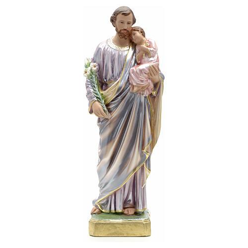 Statua San Giuseppe con bambino 50 cm gesso 8