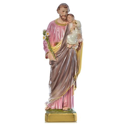 Statua San Giuseppe con bambino 50 cm gesso 12