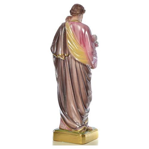 Statua San Giuseppe con bambino 50 cm gesso 15