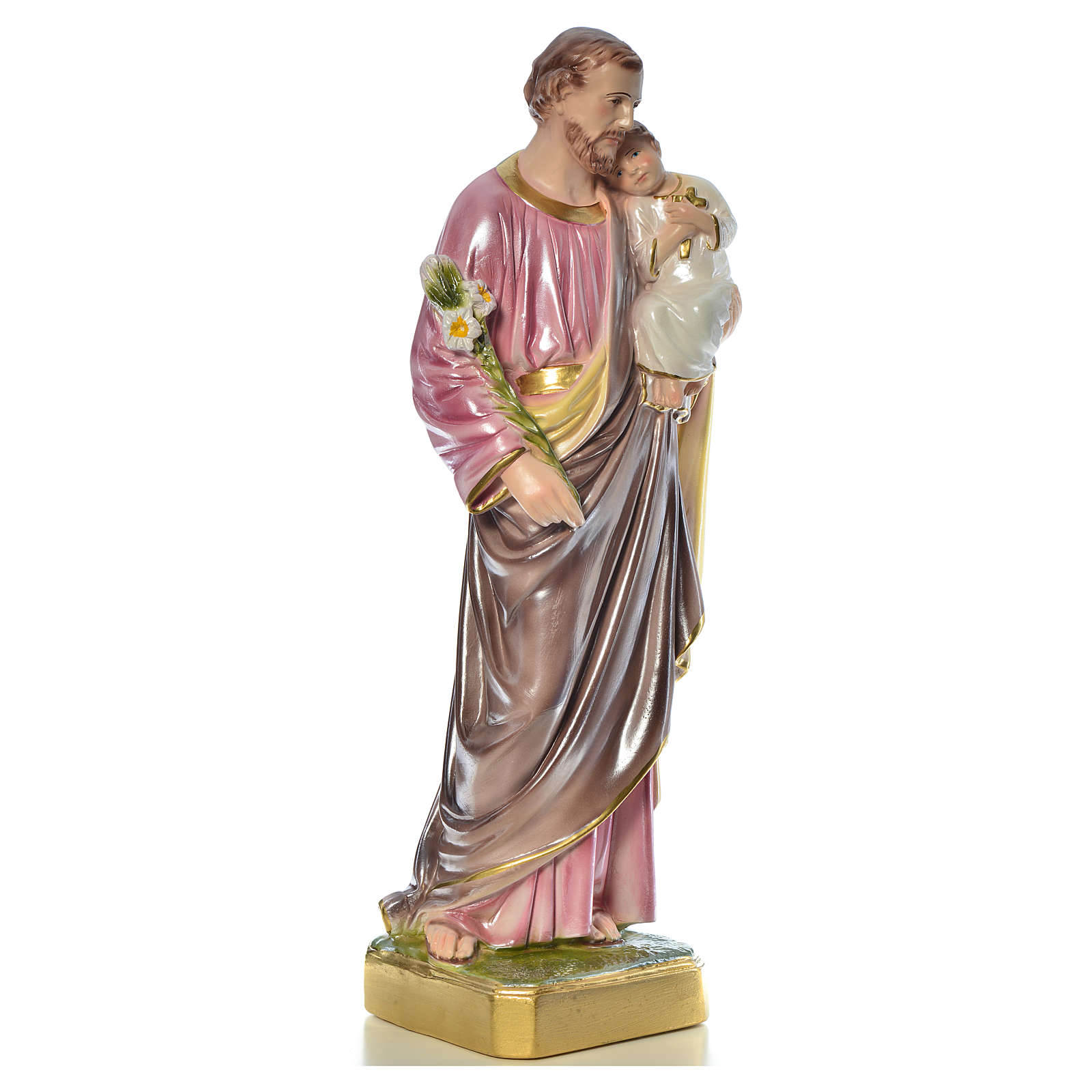 Saint Joseph with Child statue in plaster, 50 cm 4