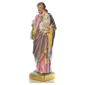 Saint Joseph with Child statue in plaster, 50 cm s13