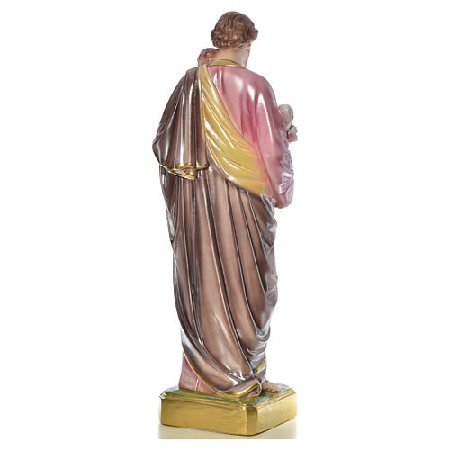 Saint Joseph with Child statue in plaster, 50 cm 15
