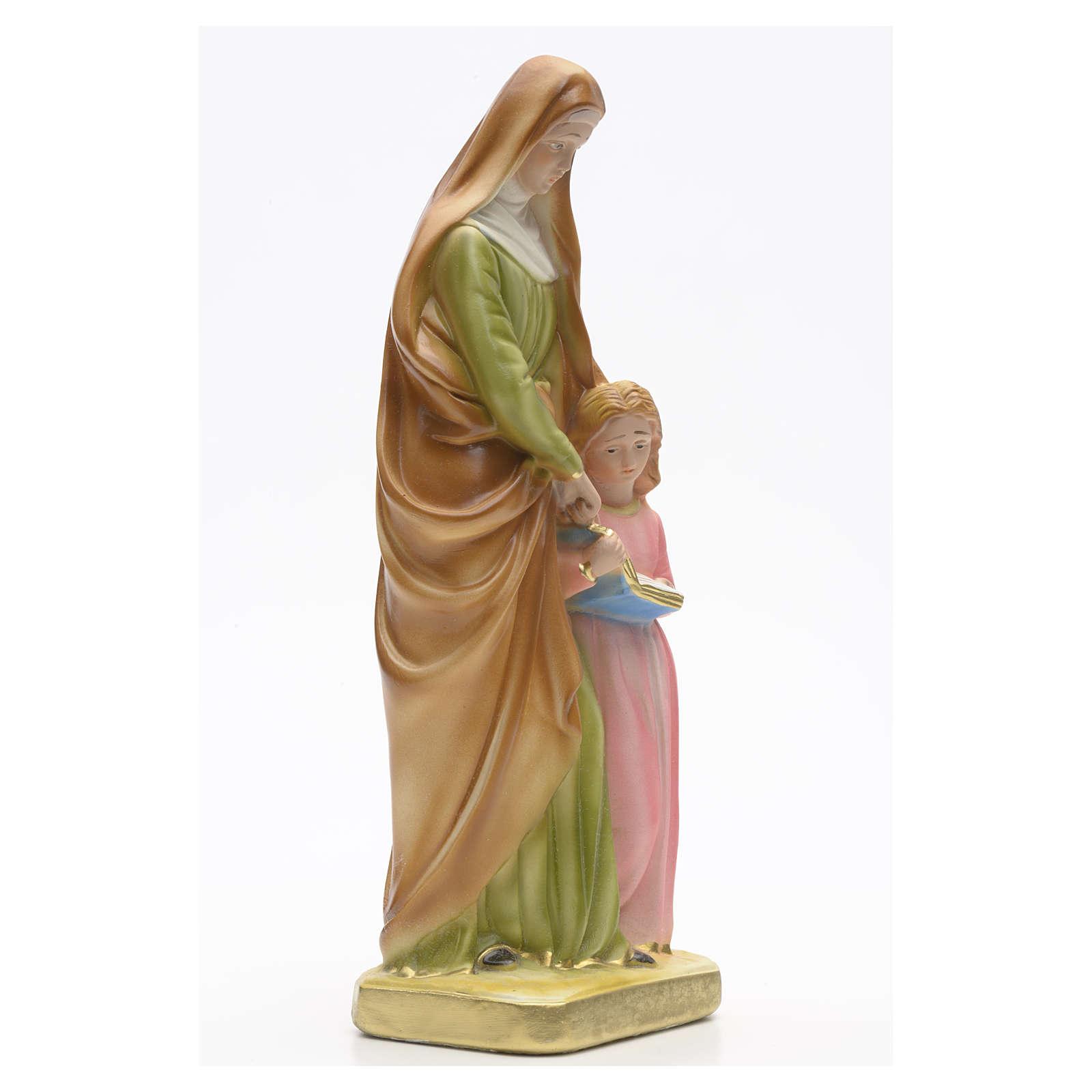 Statua gesso Sant'Anna con bambina 30 cm 4