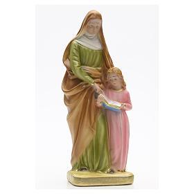 Statua gesso Sant'Anna con bambina 30 cm s1