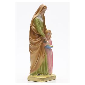 Statua gesso Sant'Anna con bambina 30 cm s2