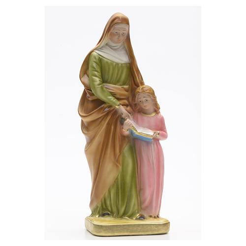 Statua gesso Sant'Anna con bambina 30 cm 1