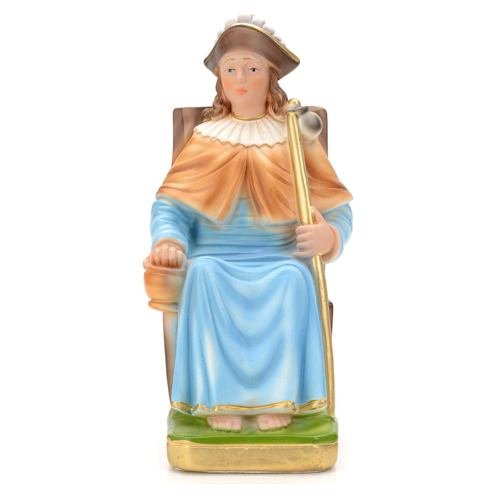 Holy Child of Atocha statue in plaster, 25 cm 4