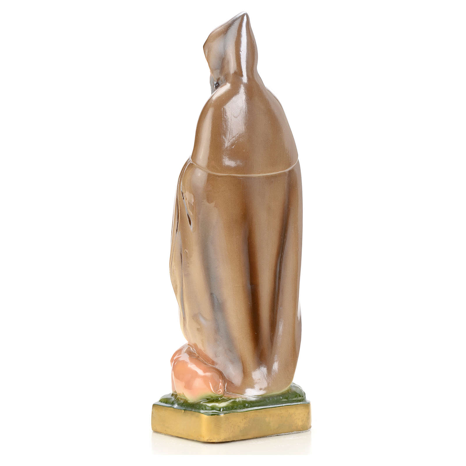 St Antony the Great statue in plaster and pearlized colors, 20 c 4
