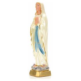 Notre Dame de Lourdes plâtre perlé 20 cm s3