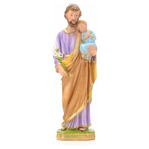 San José con Niño Jesús 30 cm yeso 1