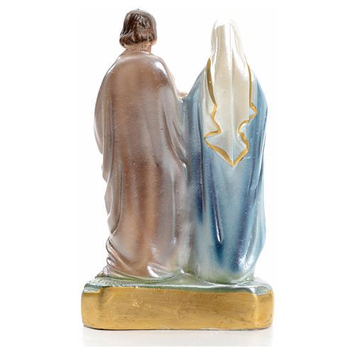 Sainte Famille plâtre perlé 16 cm 3