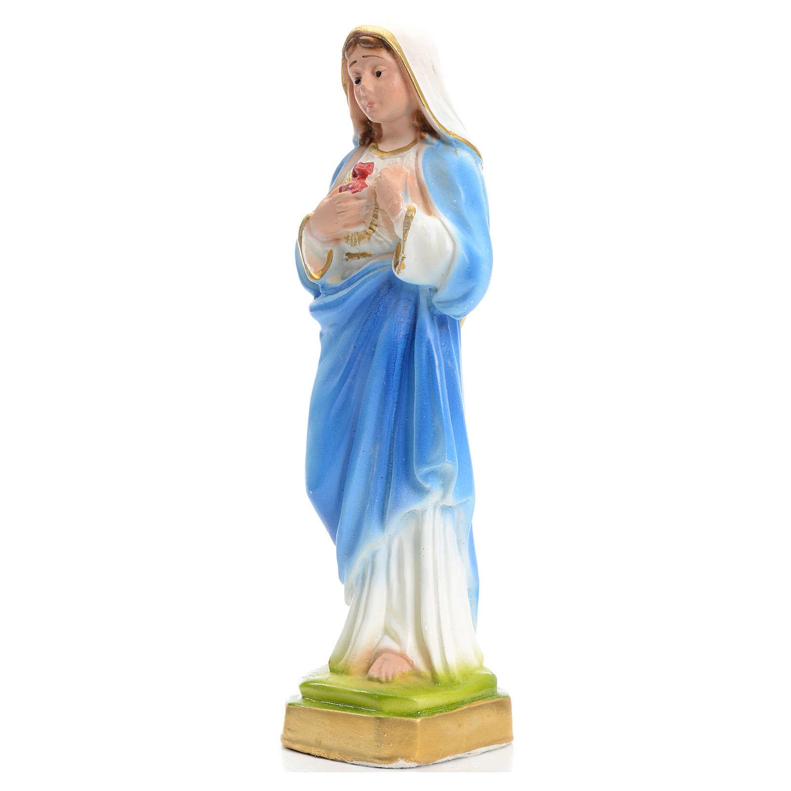 Sacré Coeur de Marie en plâtre 16 cm 4