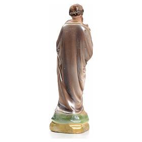 San Giuseppe con bimbo 16 cm gesso madreperlato s3
