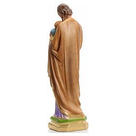 San Giuseppe 40 cm in gesso madreperlato s3