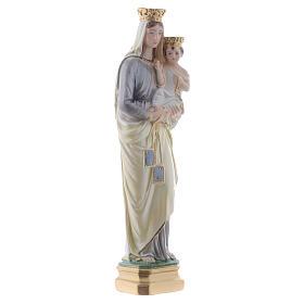 Madonna del Carmine 40 cm gesso madreperlato s3