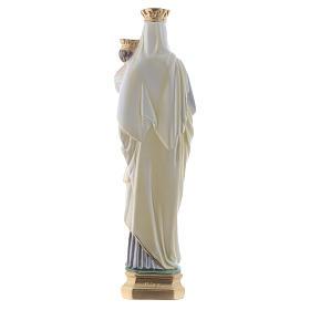 Madonna del Carmine 40 cm gesso madreperlato s4