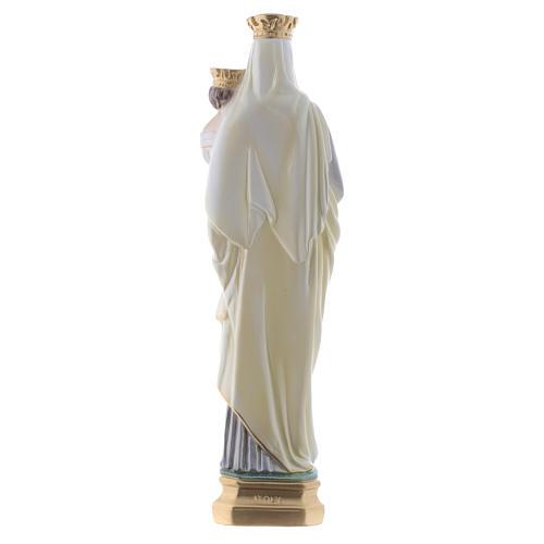 Madonna del Carmine 40 cm gesso madreperlato 4