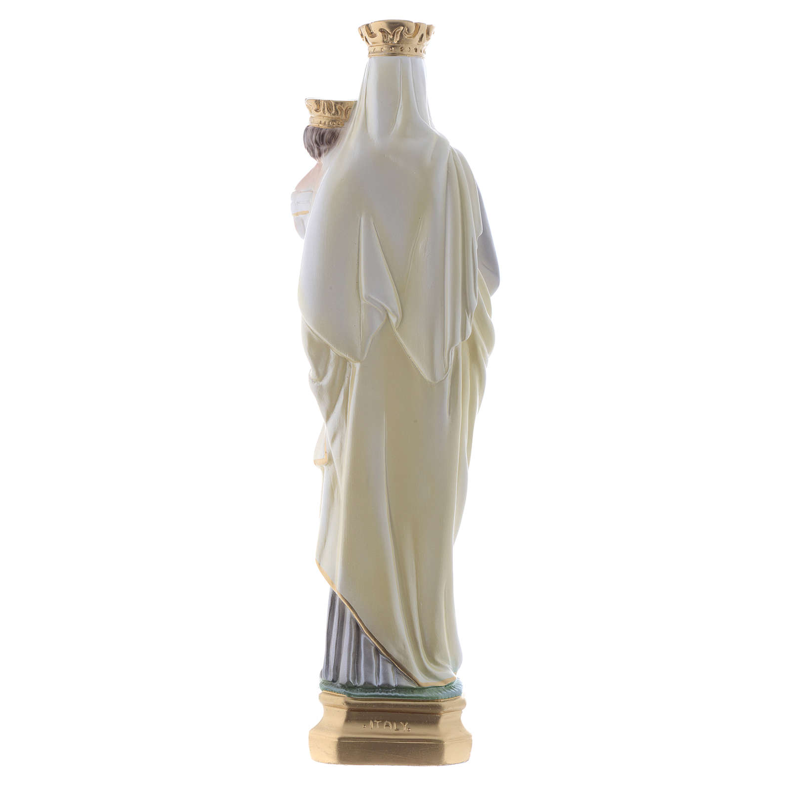 Our Lady of Mount Carmel statue in iridescent plaster 40cm 4
